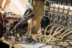 USA militarny switchboard na pokazie w mieście Obrazy Royalty Free
