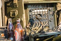 USA militarny switchboard na pokazie w mieście Obraz Stock