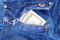 USA money in back pocket Stock Images