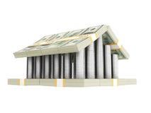 Usa money castle Royalty Free Stock Photos