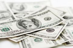 USA money Lots of hundred dollar banknotes Royalty Free Stock Images