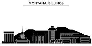 Usa, Montana, Billings architecture vector city skyline, travel cityscape with landmarks, buildings, isolated sights on. Usa, Montana, Billings architecture Stock Image