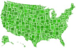 USA in a mosaic coloured Stock Images