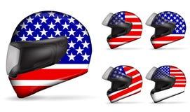 Usa motorcycle helmet Royalty Free Stock Photos