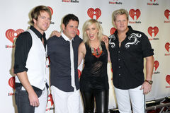 USA - Music - 2011 iHeartRadio Music Festival. LAS VEGAS - SEPTEMBER 24: Natasha Bedingfield appears with Rascal Flatts on the red carpet at the 2011 iHeartRadio Royalty Free Stock Images