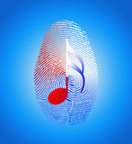 USA Music Fingerprint Royalty Free Stock Photography
