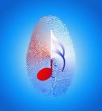 USA Music Fingerprint. United States of America Music Fingerprint Royalty Free Stock Photography