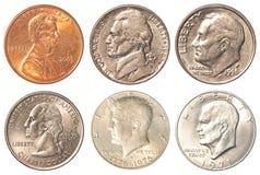 USA mynt - svanssida Fotografering för Bildbyråer