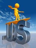 USA na najwyższym szczeblu domena Zdjęcie Stock