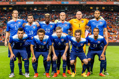 USA narodu piłki nożnej drużyna Zdjęcia Royalty Free