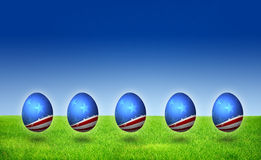 USA nation flag pattern Easter Egg Stock Photos