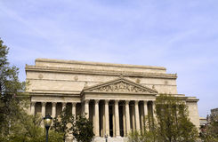 USA National Archives Building. The Front of the National Archives in Washington DC Royalty Free Stock Photography