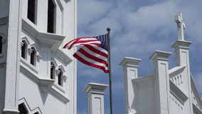 USA national flag blowing in the wind 4K stock video