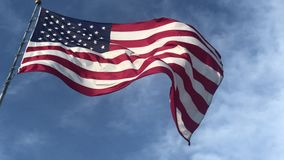 USA National flag 4k. Video footage variety of shots stock footage