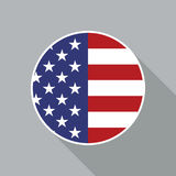 USA National Flag Vector Flat Icon Royalty Free Stock Photos