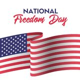 USA national freedom day. Greeting card with american flag. USA national freedom day. Vector greeting card with american flag Royalty Free Illustration