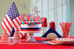 USA national holiday celebration party table Stock Images