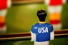 USA National Jersey on Vintage Foosball, Table Soccer Game Stock Images