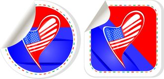USA national and patriotic concepts for badge Royalty Free Stock Photography