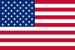 USA nationsflagga i exakta färger, officiell flagga av USA i exakta färger royaltyfri illustrationer