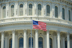 USA-nationsflagga, Washington DC, USA Royaltyfria Foton
