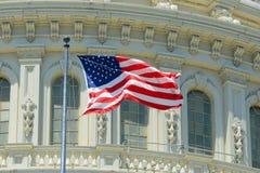 USA-nationsflagga, Washington DC, USA Arkivfoton