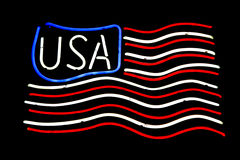 Usa in neon Royalty Free Stock Images