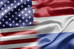 USA and Netherlands Royalty Free Stock Photography