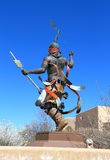 USA, New Mexico/Santa Fe: Sculpture on Museum Hill - Apache Mountain Spirit Dancer Royalty Free Stock Images