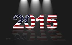 Usa New year 2015. Royalty Free Stock Photo