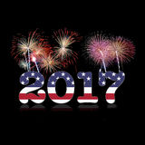 USA New year 2017. An illustration of happy new year 2017 Royalty Free Stock Photo