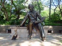 USA New York Central Park andersen den kristna hans statyn arkivfoto