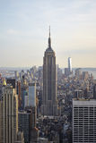 USA. New York City skyline aerial view at sunset - USA Stock Photography