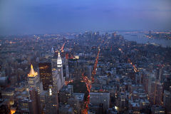 USA, New York from Empire State Building. Manhatten by night from the Empire State Building Royalty Free Stock Photos