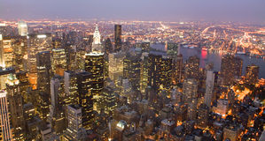 USA, New York from Empire State Building Stock Image