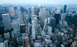 USA, New York from Empire State Building. Manhatten by night from the Empire State Building Stock Photo