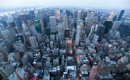 USA, New York from Empire State Building royalty free stock photos