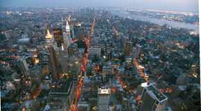 USA, New York from Empire State Building. Manhatten by night from the Empire State Building Stock Photos