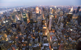 USA, New York from Empire State Building. Manhatten by night from the Empire State Building Royalty Free Stock Image