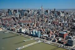 29 03 2007 USA, New York: Sikter av Manhattan från helicopten Royaltyfri Fotografi