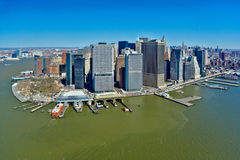 29.03.2007, USA, New York: Views of Manhattan from the helicopte Royalty Free Stock Photo