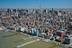 29.03.2007, USA, New York: Views of Manhattan from the helicopte Royalty Free Stock Photography