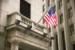 USA, New York, Wallstreet, Börse Stockfotografie