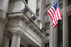 USA, New York, Wallstreet, Stock Exchange Stock Photos