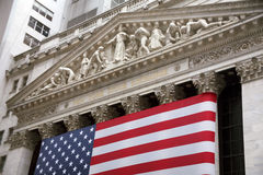 USA, New York, Wallstreet, Stock Exchange Stock Photography