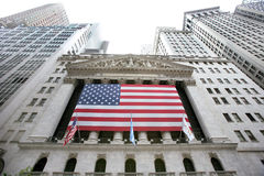 USA, New York, Wallstreet, Stock Exchange Royalty Free Stock Images