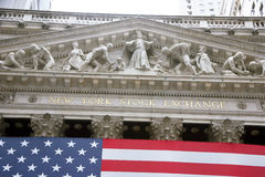 USA, New York, Wallstreet, Stock Exchange. Stock Exchange in New YOrk, Wallstreet, USA Stock Image