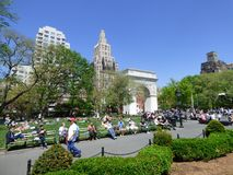 USA. New-York. Washington Square. Built in 1826, it is one of the most popular places in southern Manhattan where people like to hang out and meet. The royalty free stock images