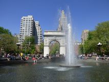 USA. New-York. Washington Square. Built in 1826, it is one of the most popular places in southern Manhattan where people like to hang out and meet. The stock photo