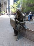 USA. New-York. Zuccotti Park. Double Check. Sculpture Double Check of the artist Seward Johnson who survived the attacks of 11.09.2001. Following the attacks of stock photo